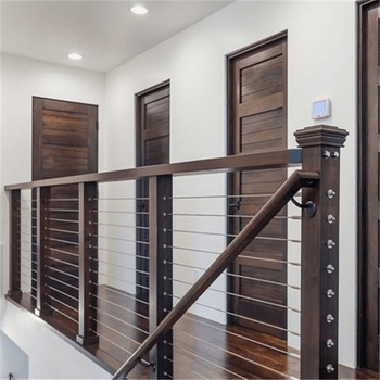 Cable Staircase Classical Stair Railing Vertical Cable Railing   Wood And Cable Stair Railing   Stairway   Wrought Iron   Staircase Railing   White   Vertical