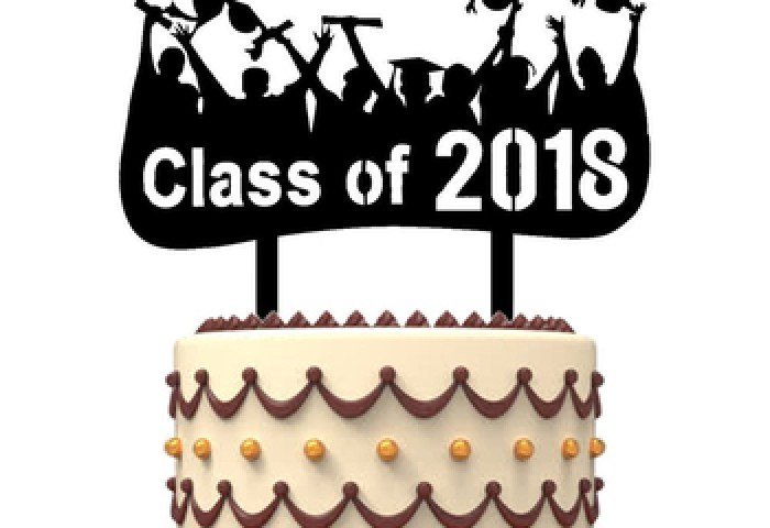 Custom Acrylic Graduation Class Of 2018 Cake Toppers Party
