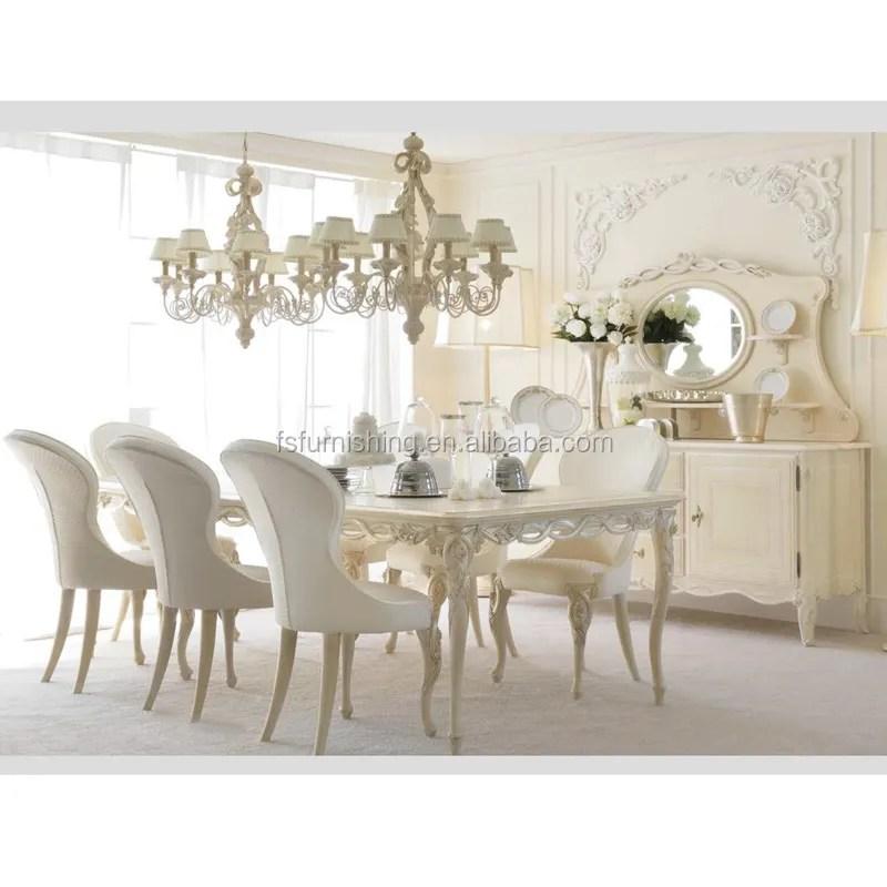 ensemble de meubles de salle a manger de luxe en bois massif sculpte meubles elegants blanc chaise de table buy ensemble de salle a manger en bois