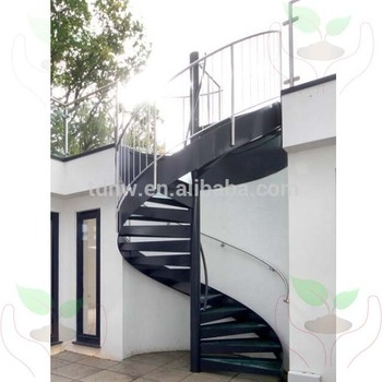 External Used Metal Spiral Staircase With Glass Tread And   Stainless Steel Spiral Staircase   Custom Iron   Wooden   Indoor   Bronze   Top