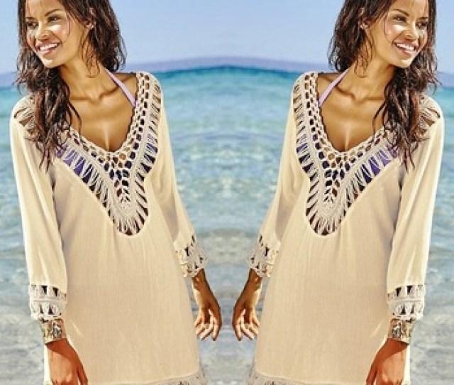 Summer Sex Girls Swimsuit Beach Dress Swim Hollow Out Cover Up Women