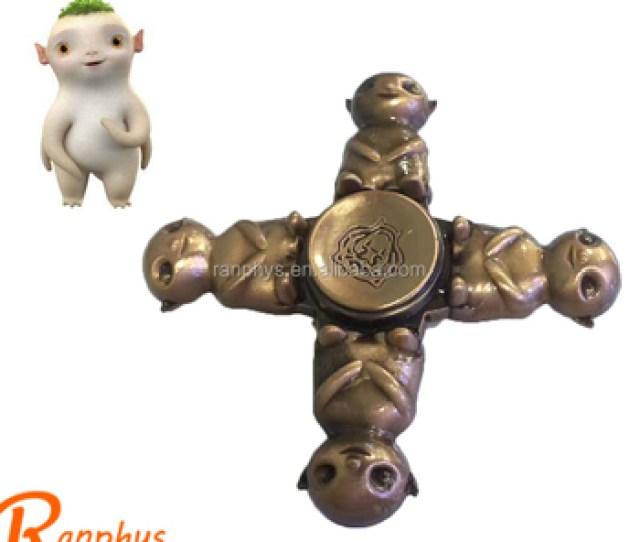 Ranphys Wholesale Zinc Alloy Monster Wuba Fidget Spinner Gift Spinner For Autism