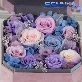 In Vendita Su Misura Tipo Di Fiori Secchi Conservati Rosa Fiore Di Velluto Confezione Regalo Tra Cui Rosaortensie E Muschio Buy Fiori