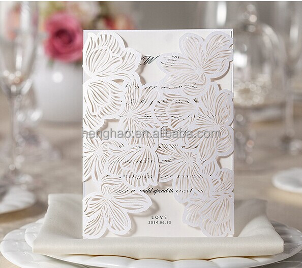 Luxury 3d Wedding Invitations Cards With Envelope 2016 Autumn Card Invitation For Convites Casamento