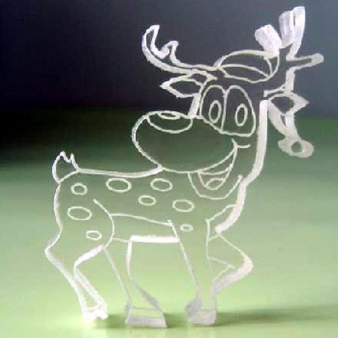 Large Plastic Reindeer Outdoor Christmas Decoration
