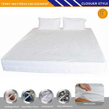 Superior Terry Cotton Mattress Cover With Zipper