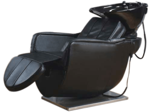 Used Shampoo Chair With Ceramic Bowls For Hair Salon