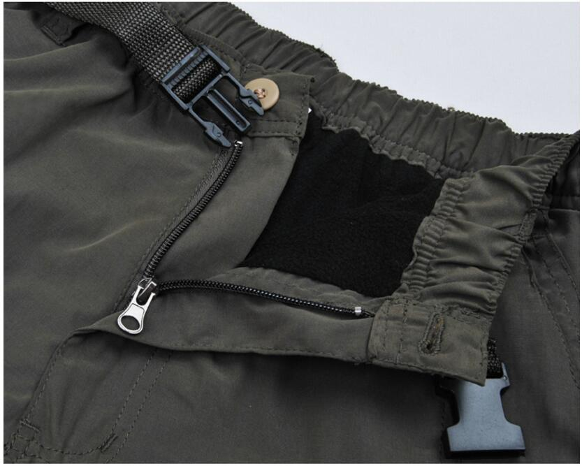 Men's Cargo Pants 2019 Winter Casual Warm Thicken Fleece Pants Men Cotton Multi Pockets Combat Military Baggy Tactical Pants 47