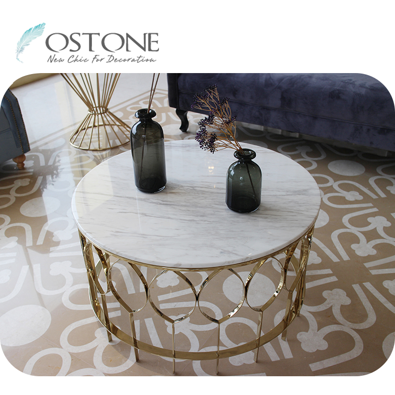 fancy round volakas marble top modern natural stone white coffee table buy stone coffee table natural stone coffee table modern stone coffee table