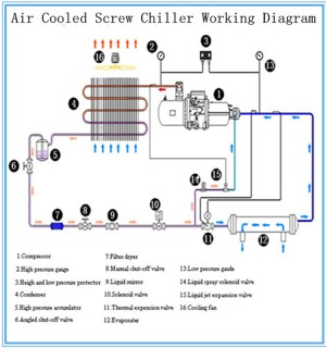 China Professional Air Cooling Screw Bitzerhanbell