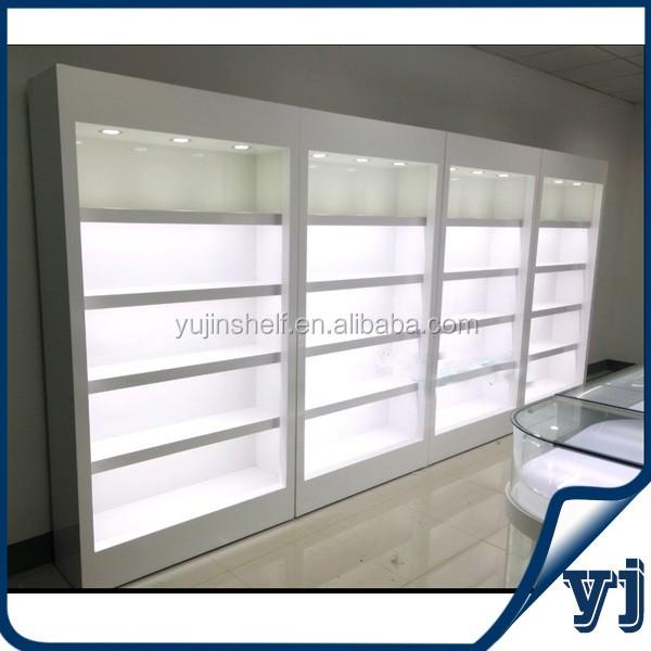 Shop Display Wooden Furniture Showcase Design Wall Glass
