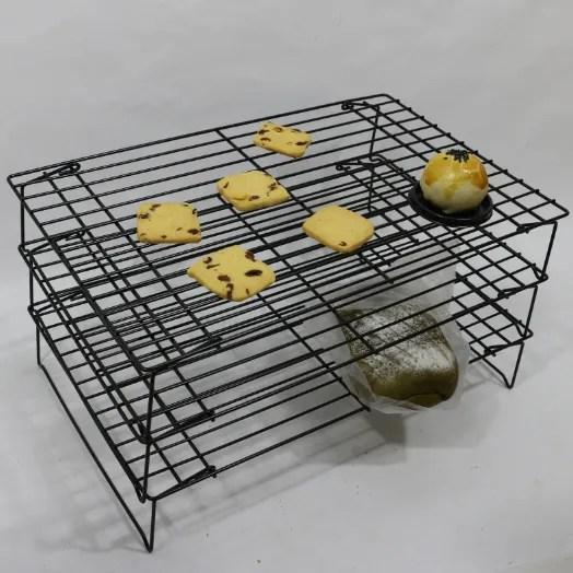 kitchen metal baking cooling racks bread orgainzier baking display stainless steel 3 tier cooling rack for cookies buy 3 tier cooling rack cooling