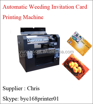 Automatic Wedding Invitation Card Printing Machine Pvc Business Printer