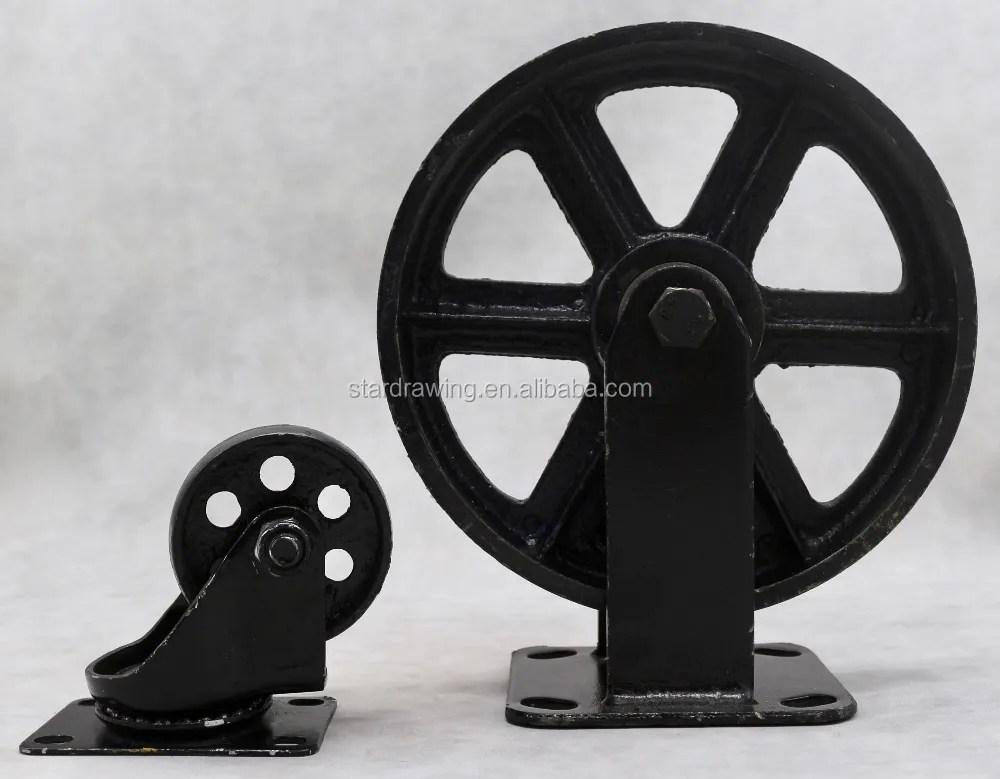 roues de meuble industriel vintage et
