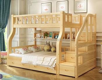 New Design Kids Bunk Bed Solid Wood Kids Double Deck Bed