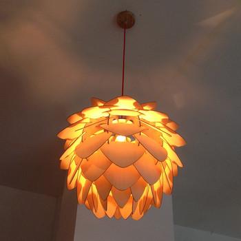 Designer Lamp Crimean Pinecone Modern Wood Chandelier
