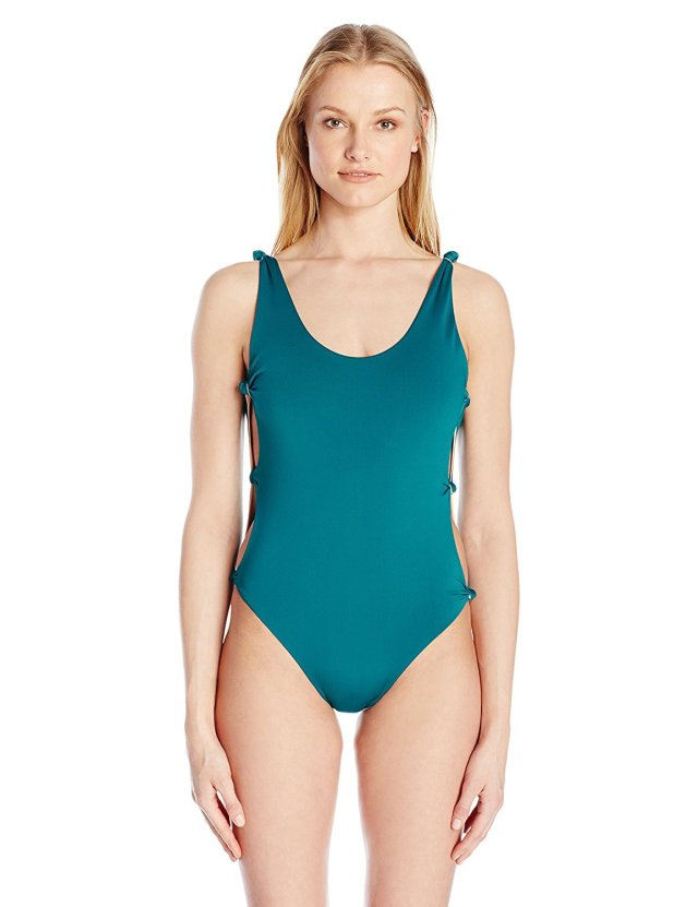 Get Quotations  C2 B7 Red Carter Womens Indian Summer Reversible Solid Open Side One Piece Swimsuit