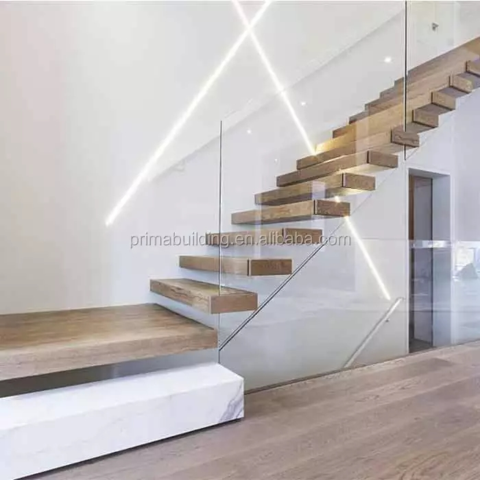 Apartment Villa Container House Modern Hidden Invisible Stringer   Wood Stair Treads Lowes   Pine Stair   Stair Nosing   Flooring   Pressure Treated   Maple Stair