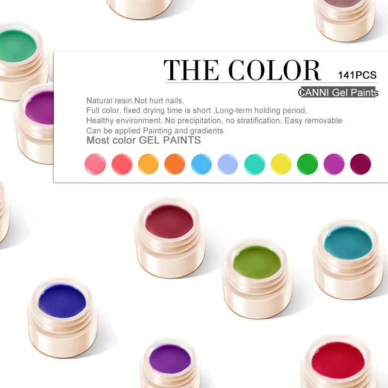 50618j Canni Summer Neon Color New 141 Nail Art Gel Paint Uv