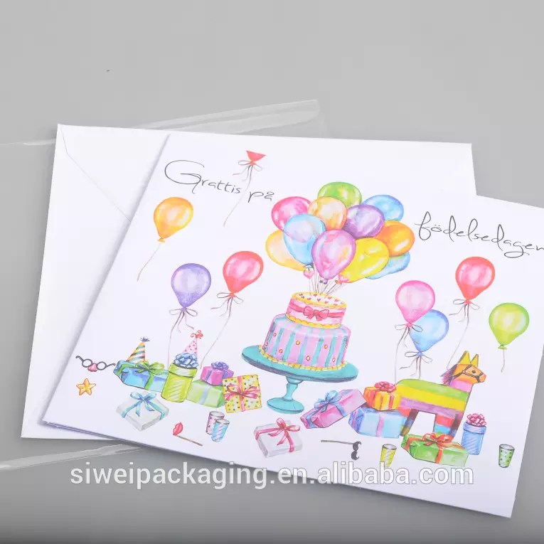 In Stock Colourful Balloon Cake Printing Handmade Birthday Greeting Cards Best Friend Buy Birthday Greeting Cards Printing Card Handmade Greeting Card Product On Alibaba Com