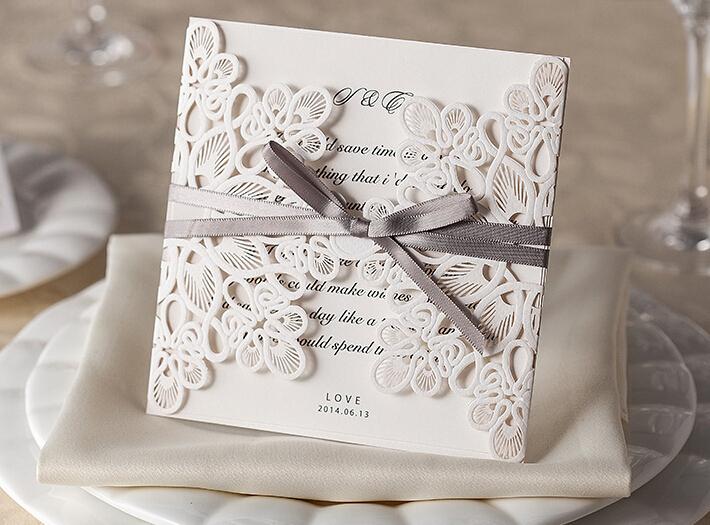 Unique Design Usa Laser Cutting Wedding Invitation Card