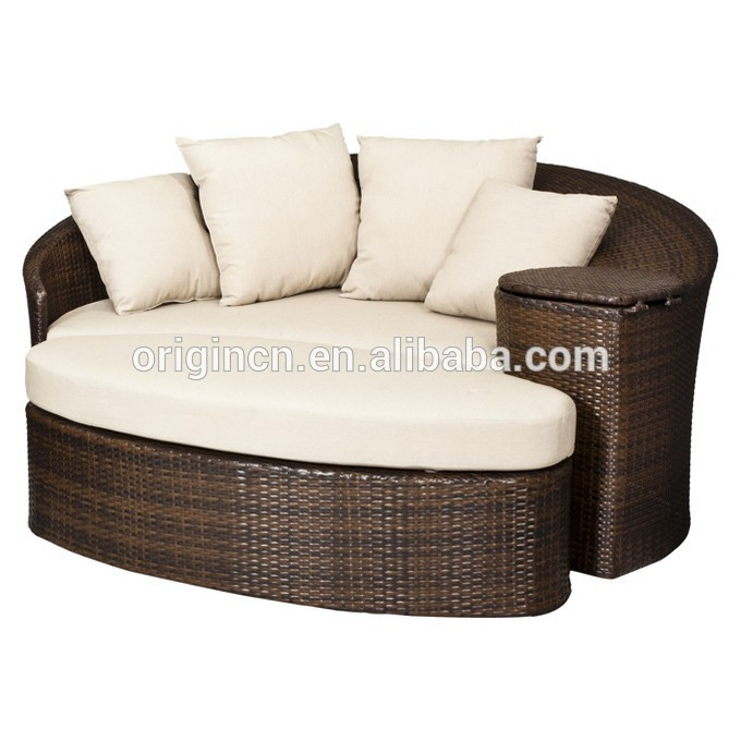 patio loveseat and ottoman sectional round sun bed with cooler rattan outdoor daybed view outdoor daybed oem origin product details from jinhua