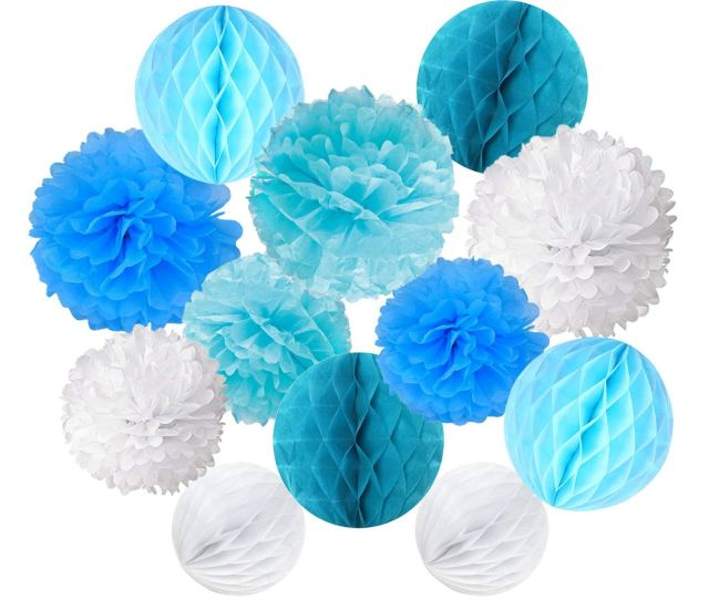 Get Quotations  C2 B7 Cocodeko Paper Pompoms And Honeycomb Balls For Birthday Party Wedding Baby Shower Bridal Shower Festival Decorations