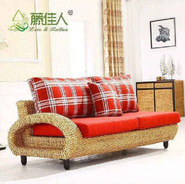ensemble canape et fauteuil en osier tisse a la main mobilier d interieur moderne en rotin naturel offre speciale buy meubles d interieur en
