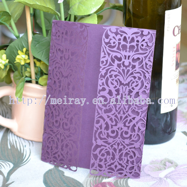 Chinese Whole Purple Laser Wedding Invitation Card View Mery Product Details From Jinan Arts And