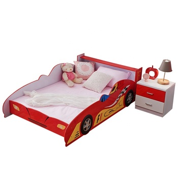 eco green and cheap wooden bedroom furniture shaped cartoon kids race car bed for kindergarten children bed buy new design mdf kids bedroom car
