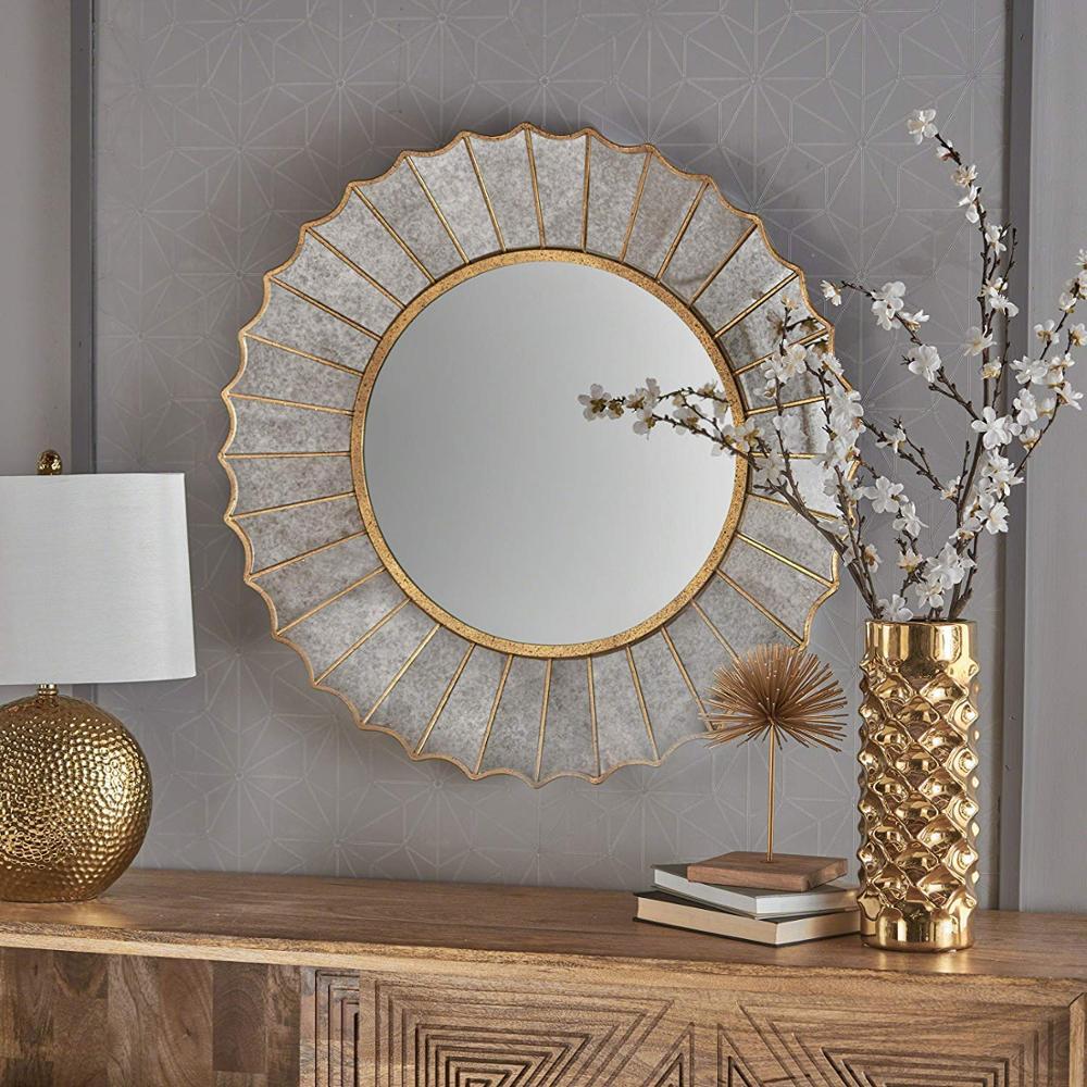 beaucoup meubles glam soleil eclat or feuille de fer cadre miroir mural buy grand miroir de mur d eclatement de soleil de glam de meubles miroir de