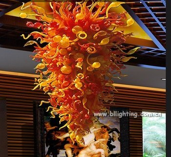 Modern Art Glass Dale Chihuly Style Chandelier