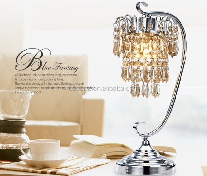 Whole Cordless Crystal Bead Chandelier Table Lamp Home Goods Lamps