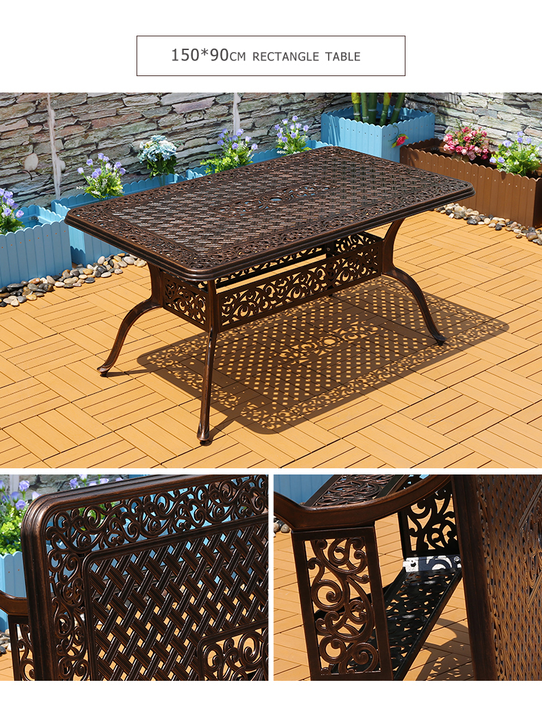 outdoor furniture cast aluminum bistro chair set outdoor garden dining set family party table patio leisure furniture buy cast aluminum patio sets outdoor furniture cast aluminum bistro chair set outdoor garden dining