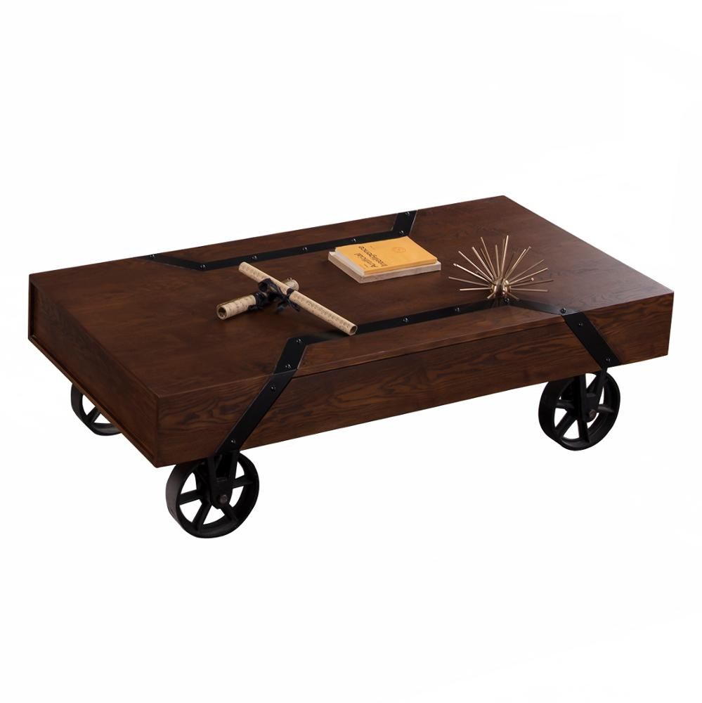 high end vintage rustic wood coffee table set with wheels buy coffee table set wood coffee table rustic coffee table product on alibaba com