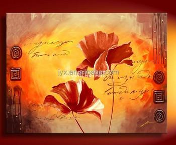 Calla Und Lava Blumen Acrylmalerei Blute Rot Von Sabrina On