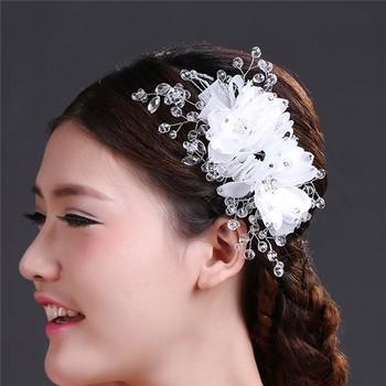 china wholesale wedding hair accessories indian crystal flower bridal hair jewelry mlf079 buy bridal hair jewelry indian bridal hair accessories wedding