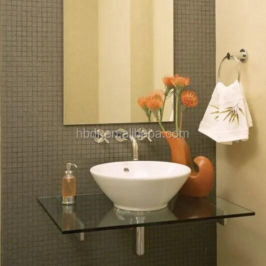 verre de borosilicate verre etagere salle de bain monocouche etagere d angle en verre buy verre d etagere d angle simple couche de salle de