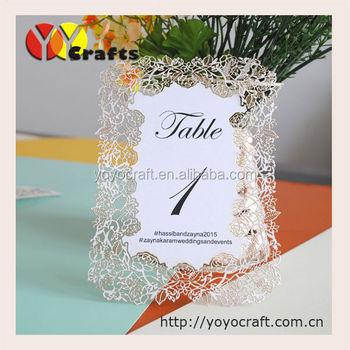 Unik Elegan Kertas Bunga Mawar Renda Sederhana Undangan Pernikahan