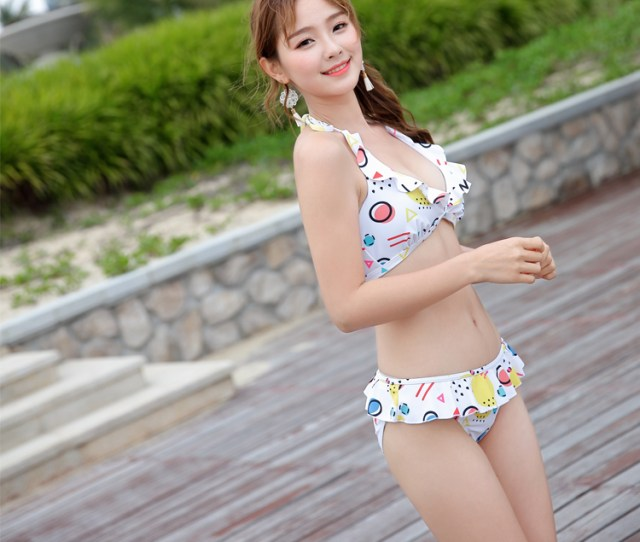 Sex Gril Photo Beach Wear Cover Up Tankini Swimsuit
