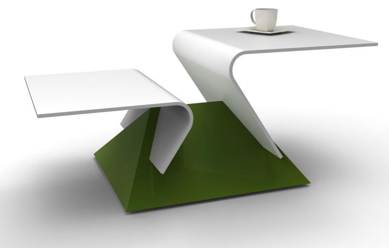 Table Basse Moderne De Dupont Corian Et Le Bois Table