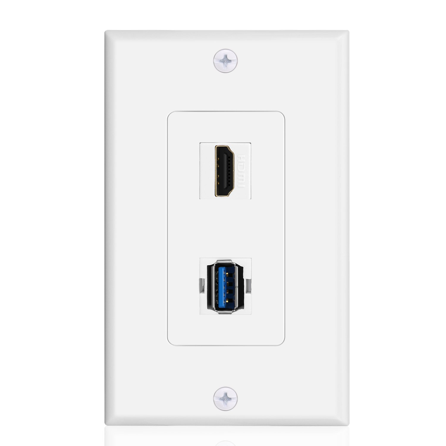 Buy Tnp Usb Hdmi Outlet Wall Plate