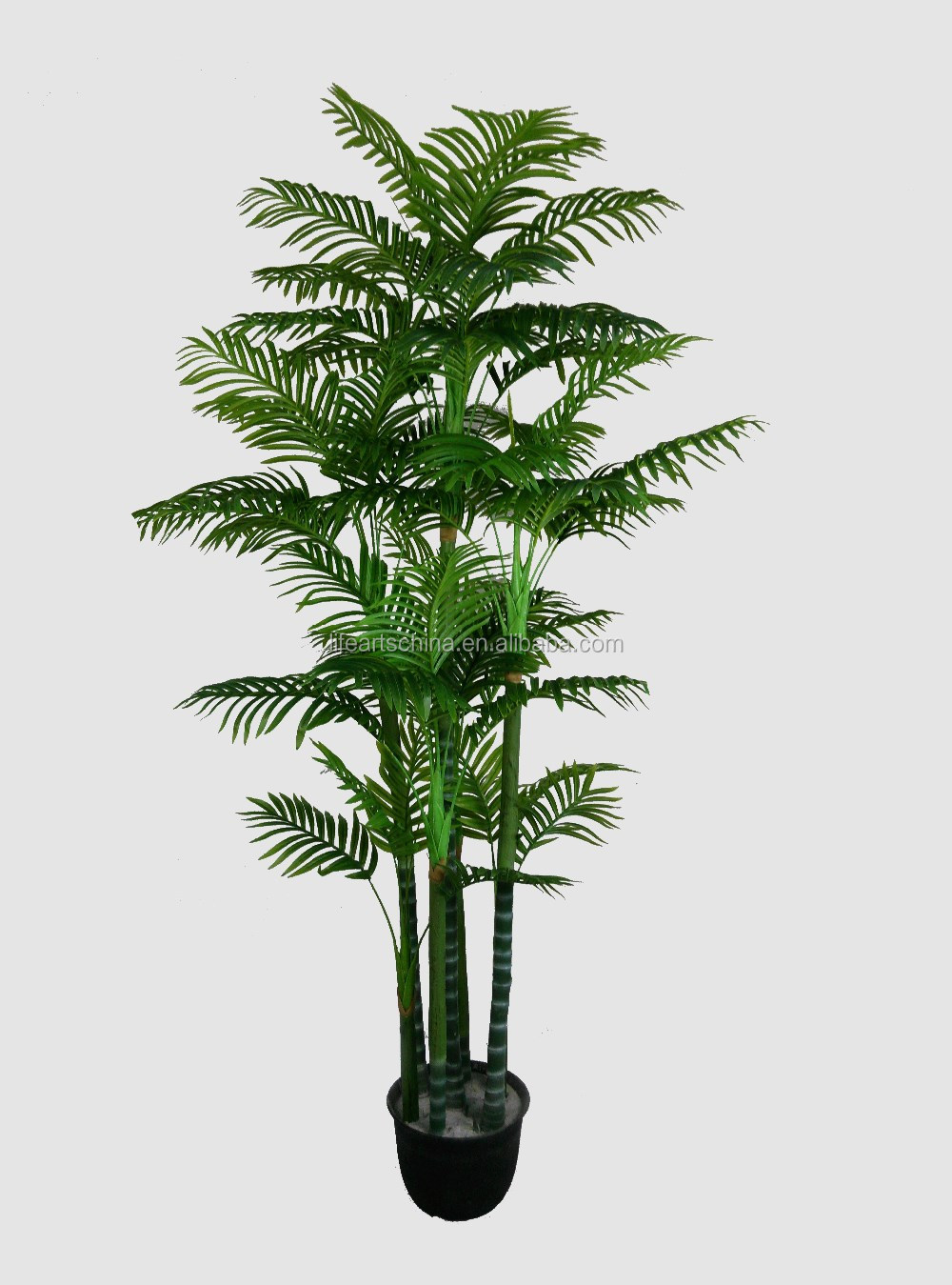 Good Looking 3 Trunks Artificial Palm TreeReal Touch Palm