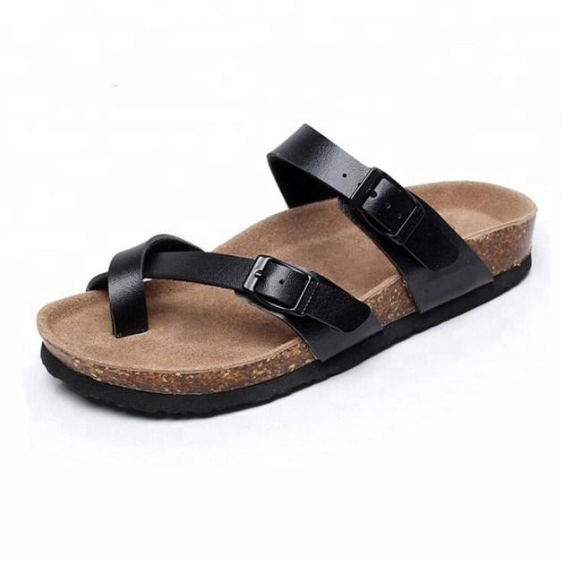 New Arrival Wholesale Women Slippers Casual Beach cork sole Sandals