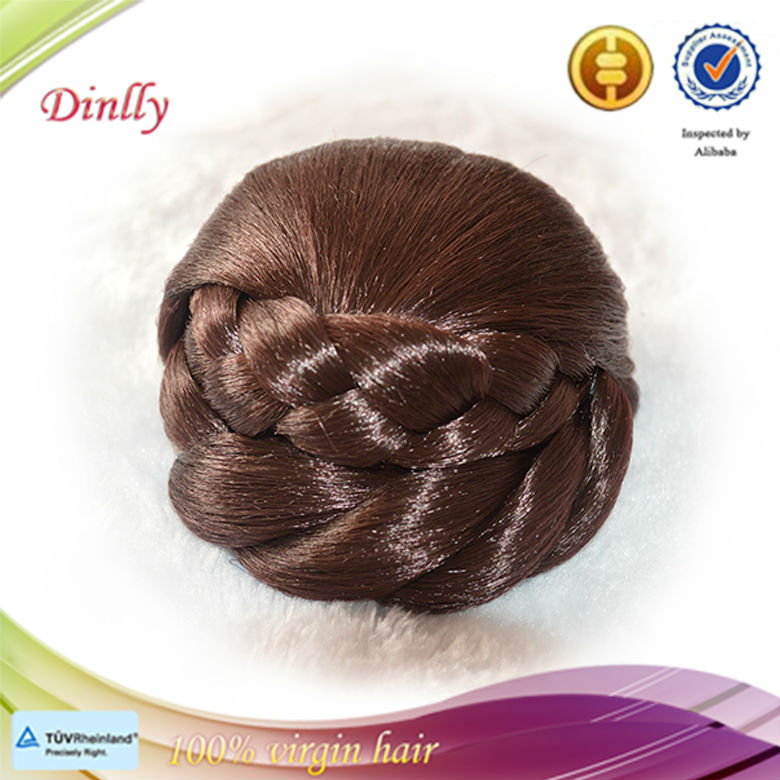 Hot Selling Fast Delivery Shinning Color Hair Bun Fake Hair Bun
