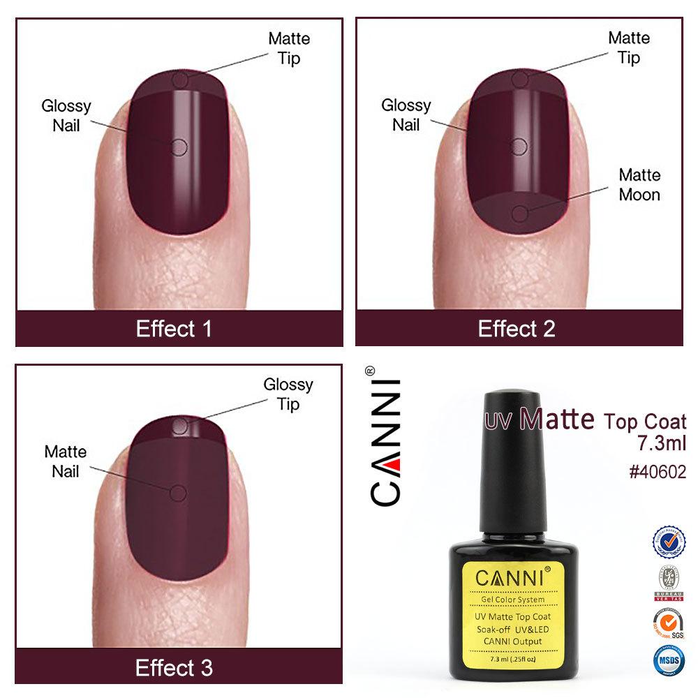 Canni New 2017 Gel Nails Supplies 40602w Nail Polish Finish Matte Top Coat