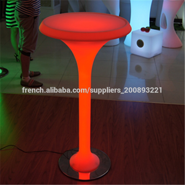 bar led lumineux table basse lumineuse