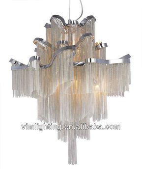 Luxury Silver Chain Chandelier For 8520 8