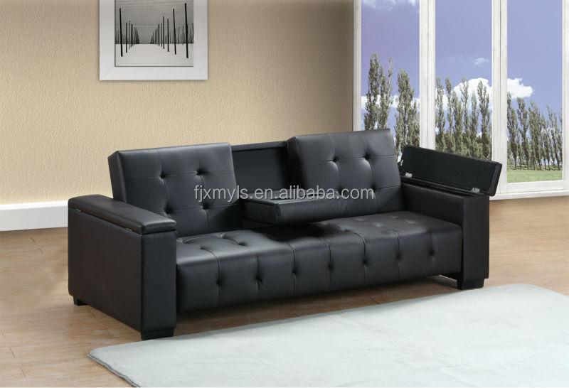 classique clic clac canape lit avec porte gobelet et rangement