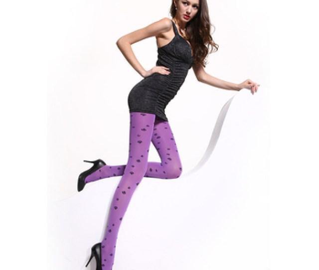 China Hosiery Factory Custom Teen Girls Jacquard Print Pattern Pantyhose 7001